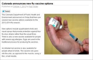 Colorado announces new flu vaccine options