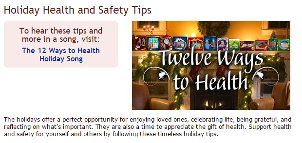 Holiday Health and Safety Tips